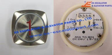 Thyssenkrupp Red crystal pushbutton 200076347