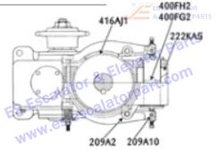 OTIS 416AJ1 Machines Lining, Brake. 2.75 in. (70 mm) Wide, 5