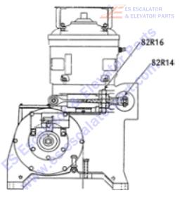 OTIS 82R16 Machines Pin, Pivot, Brake Lever, at Gearcase