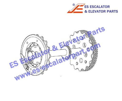 ESXIZIESOTIS XAA26170T4 Upper station main shaft with auxiliary brake