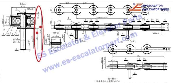 ThyssenKrupp Velino Step chain FT822 1705536300