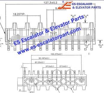 Escalator Part 645B028H01 Step Demarcation NEW