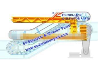 Escalator Part XAA455S1 Step Demarcation NEW