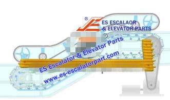 Escalator Part XDDM4122NS Step Demarcation NEW