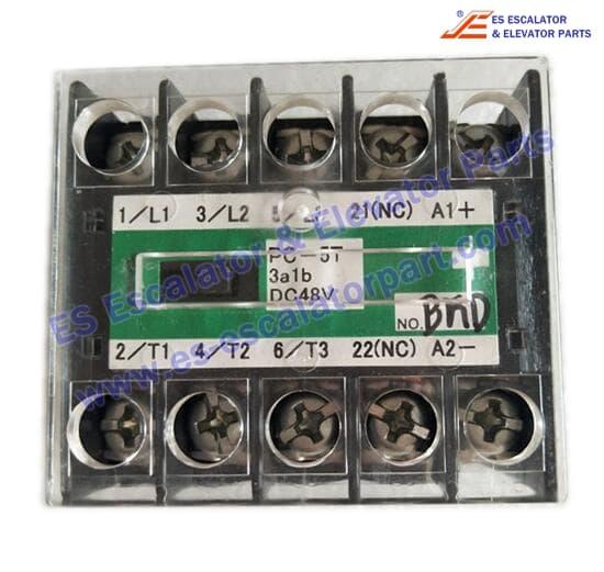Mitsubishi PC-5T-3A1B-DC48V elevator contactor