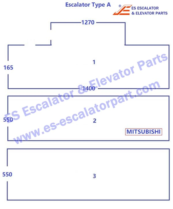 Mitsubishi escalator Type A Frontcover