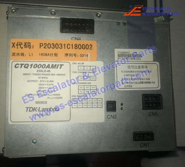MITSUBISHI Elevator Z59LX-46 Power Adapter