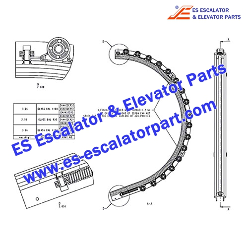 OTIS Escalator Parts DAA402CR1 guide and keel