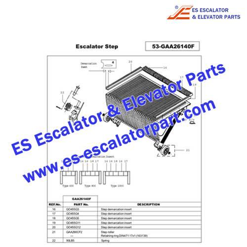 OTIS Escalator Parts GO455G4 Step Demarcation NEW