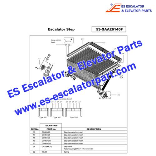 OTIS Escalator GO455G5 Step Demarcation NEW