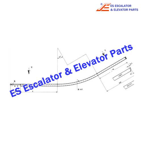 OTIS Escalator GB483YP9 Step wheel return guide
